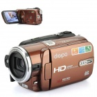 "DIGIPO HDV-P72S 1/3.2"" CMOS 8.0MP Camcorder w/ 5X Optical Zoom / HDMI / SD - Brown (3.0"" TFT LCD)"