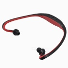 Sport MP3 / FM Music player In-Ear Earphone - Black + Red