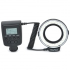 "Travor RF550D 1.6"" LCD White 48-LED 7-Mode Macro LED Ring Flash Light for DSLR Camera (4 x AA)"