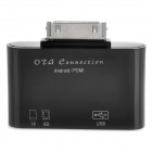 OTG Connection Kit w/ SD / TF / USB for Samsung Tablet PC - Black