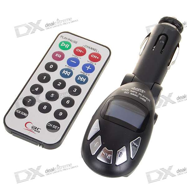 Full Range FM Transmitter MP3 Player with USB Port SD Slot and IR Remote Controller