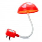AC Powered Light Activated LED White Light Flexible Night Lamp - Red + White (220V)