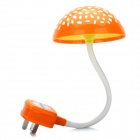 AC Powered Light Activated LED White Light Flexible Night Lamp - Orange + White (220V)