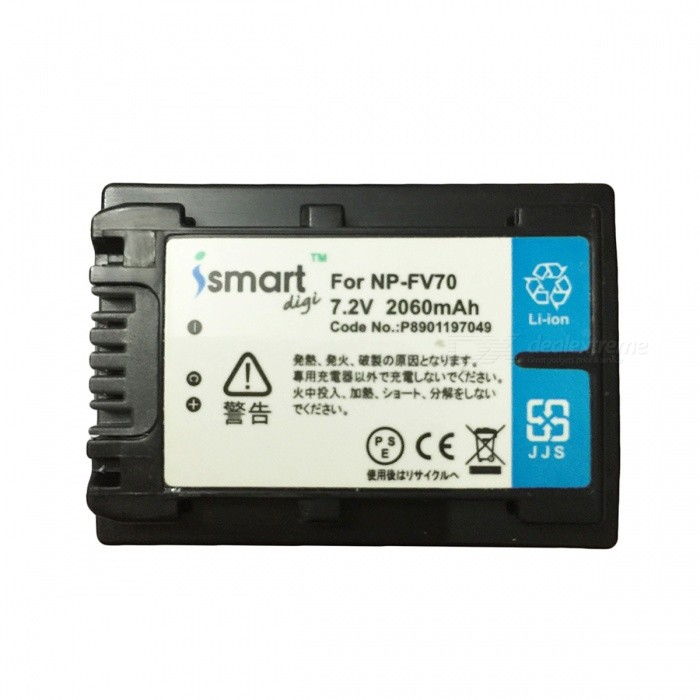Ismartdigi NP-FV70 7.2V 2060mAh Lithium Battery for Sony DCR-SR100 + More sony np bg1 battery