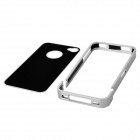 Protective Metal Back Case for Iphone 4 / 4S - Silver