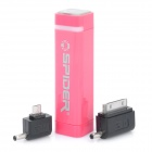 Spider 2200mAh Rechargeable External Mobile Battery Pack - Deep Pink