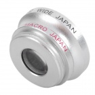 Detachable Wide Angle Lens + Macro Lens for Iphone 4/4S - Black + Silver