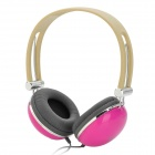S-T66 Stereo Headset Headphone w/ Volume Control / Microphone - Purple (3.5mm-Plug)