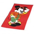 Cute Glasses Mickey Mouse Pattern Bath Beach Towel - Red