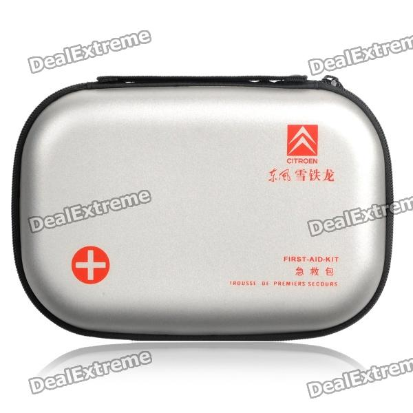 Protective PU Hard Case for First Aid Kit - Silver