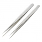 Anti-Static Steel Precision Straight Sharp-Nose Tweezers (Pair)