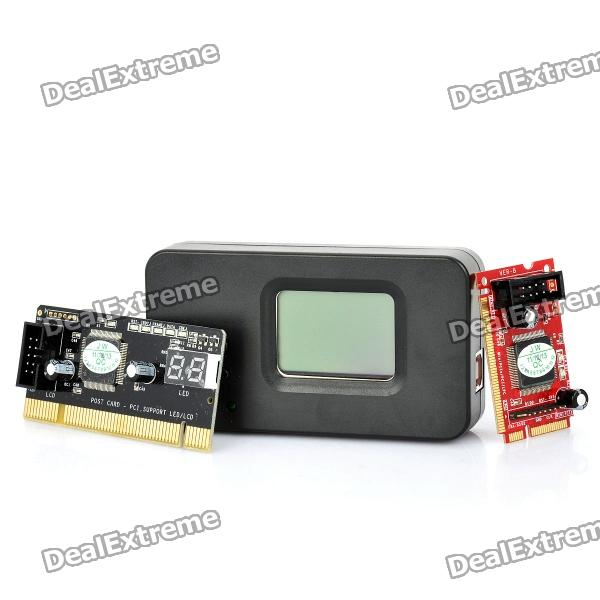 1.6 LCD Mini PCI-E PC PCI Diagnostic Test Debug Card+LPC kemar люстра kemar belize bz 3 k zf5qiq0
