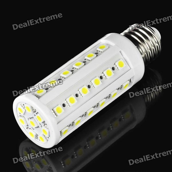 E27 7W 7000K 550-Lumen 44-5050 SMD LED White Light Bulb (AC 220~240V) zweihnder e27 15w 1200lm 86 smd 5050 led white light bulb 220 240v