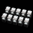 DIY USB 4-Pin Female Type B 90 Degree DIP Socket Connector - Silver (10-Piece Pack)