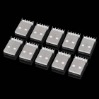 DIY USB 4-Pin Female Type A Socket Connector - Silver (10-Piece Pack)