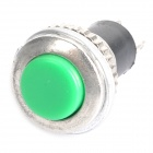 JM-239 no Locked 9,5 mm 2-Pin Interruptores de botón - verde (AC 125 V / 10-pieza Pack)