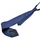 Fashion Men's Square Dot Pattern Tie - Deep Blue