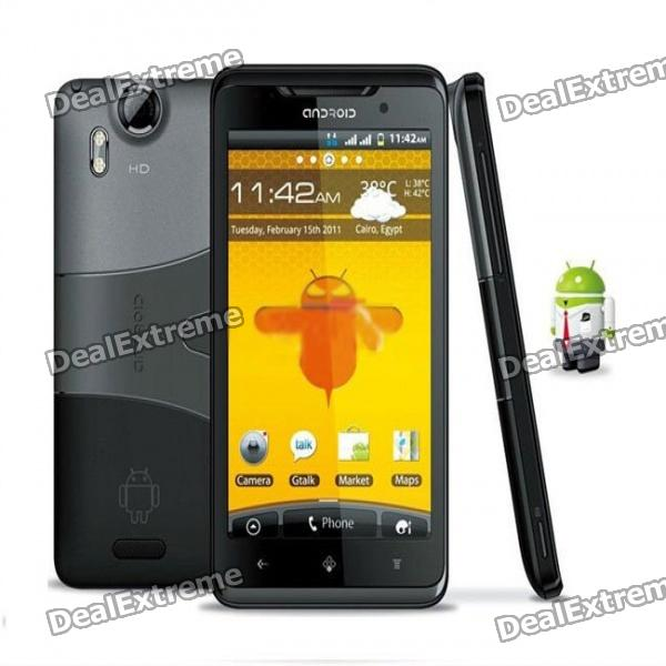 """STAR X15i Android 2.3 WCDMA Smartphone w/ 4.3"""" Capacitive, Dual-SIM, Wi-Fi and GPS - Black"""