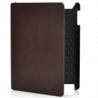 Protective Artificial Leather Case w/ Swivel Holder / Smart Cover for New iPad - Coffee