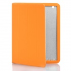 Stylish Protective PU Leather Smart Cover Case for The New iPad - Orange