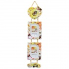 Romantic Lovers Couple Hanging Photo Frame - Yellow + White