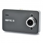 "1080P 2.7"" TFT LCD 5.0MP Wide Angle Lens Car DVR w/ 2-LED IR Night Vision / HDMI / TF - Black"