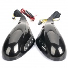 Motorcycle Rearview Mirror MP3 Player Speaker with FM / SD Slot - Pair (DC 12V)