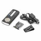 Rechargeable 2.4GHz Bluetooth V3.0 Handsfree Car Kit - Black