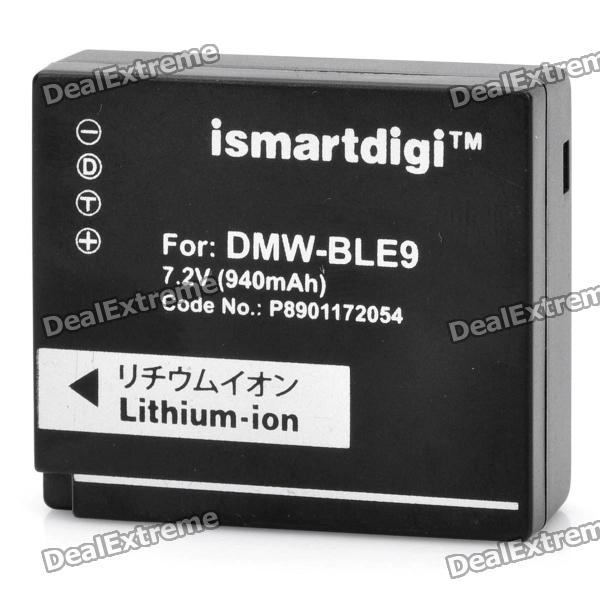 Ismartdigi DMW-BLE9 7.2V 940mAh Lithium Battery for Panasonic DMC-GF3