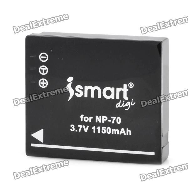 Ismartdigi NP-70 3.7V 1150mAh Lithium Battery for Fuji NP-70 F20 Zoom + More