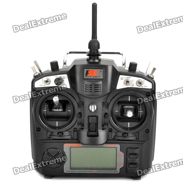 FS-TH9X 2.4GHz 9-CH 3 LCD TX Transmitter + RX Receiver Radio Control System (8 x AA) 3 9 lcd 2 4ghz 3ch transmitter