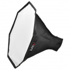 Octagon Shaped Cloth Soft Box Flash Diffuser - Black + Silver (L-Size)