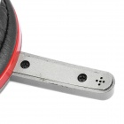 Stylish Stereo Headset Headphone with Microphone - Red + Grey (3.5mm-Jack)