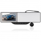 "5"" WinCE6.0 GPS Rearview Mirror w/Bluetooth/AV IN/HD IR Camera + 4GB TF Brazil Map Card"