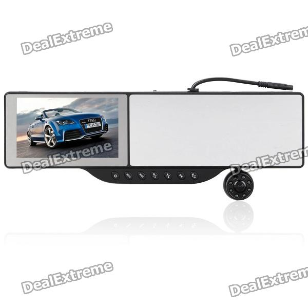 "5"" WinCE6.0 GPS Rearview Mirror w/Bluetooth/AV IN/HD IR Camera + 4GB TF USA/Canada/Mexico Map Card"