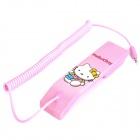 Cute Hello Kitty Pattern Radiation Protection Handset for Cell Phone - Pink (3.5mm-Plug)