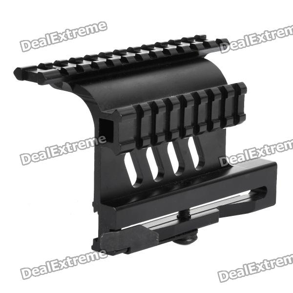 AK Aluminum Alloy Side Scope Mount - Black 9 aluminum alloy extendable bipod w mount for ak m40 guns more black