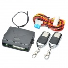 Universal Car Keyless Entry System with Trunk Release & 2 Remote Controllers - Black