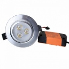 3W 6000K 300-Lumen 3-LED White Light Ceiling Down Lamp w/ Driver (AC 89~265V)