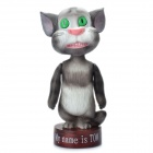 Cute Talking Tom Cat Figure Doll Coin Bank - Grey White + Coffee