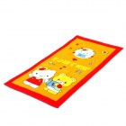Cute Kitty Puppe Muster Bath Beach Towel - Gelb + rot + weiß