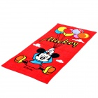 Cute Mickey & Balloon Pattern Bath Beach Towel - Red