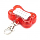 Cute Bone Style Safety Red Flashing LED Pet Collar Pendant Light - Random Color (2 x LR44)