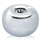 Apple Style Zinc Alloy Cigarette Ashtray - Silver