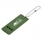 Outdoor Survival Whistle with Chain - Army Green