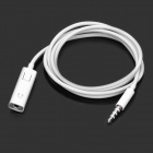 3.5mm Male to Female Audio Extension Cable w/ Microphone for Iphone (87cm-Length)