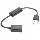 USB Male to Female Data / Charging Switch Adapter Cable for Samsung Galaxy Tab P7500 + More - Black