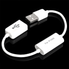 USB Male to Female Data / Charging Switch Adapter Cable for Samsung Galaxy Tab P7500 + More - White