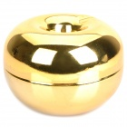 Apple Style Zinc Alloy Ashtray - Golden