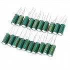 10V 2200uf Aluminum Motherboard Capacitors - Green (20-Piece Pack)